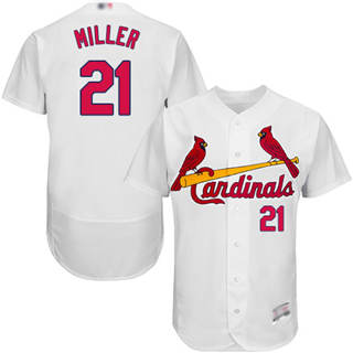 Men's Cardinals #21 Andrew Miller White Flexbase  Collection Stitched Baseball Jersey