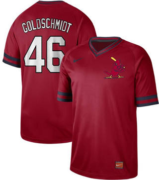 Men's Cardinals #46 Paul Goldschmidt Red  Cooperstown Collection Stitched Baseball Jersey