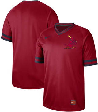 Men's Cardinals Blank Red  Cooperstown Collection Stitched Baseball Jersey