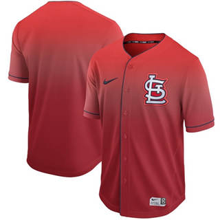 Men's Cardinals Blank Red Fade  Stitched Baseball Jersey