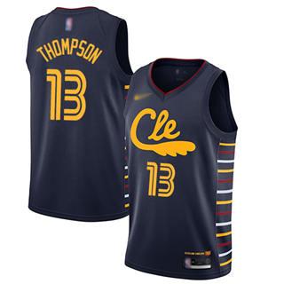 Men's Cavaliers #13 Tristan Thompson Navy Basketball Swingman City Edition 2019-2020 Jersey
