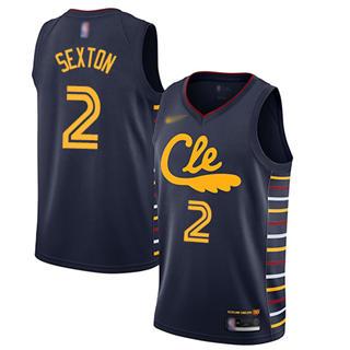 Men's Cavaliers #2 Collin Sexton Navy Basketball Swingman City Edition 2019-2020 Jersey