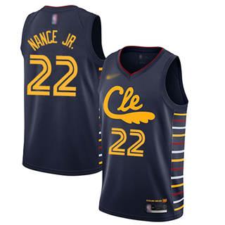 Men's Cavaliers #22 Larry Nance Jr. Navy Basketball Swingman City Edition 2019-2020 Jersey