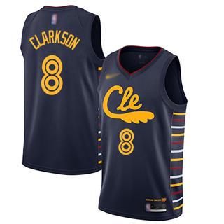 Men's Cavaliers #8 Jordan Clarkson Navy Basketball Swingman City Edition 2019-2020 Jersey