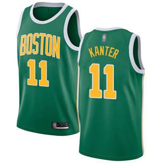 Men's Celtics #11 Enes Kanter Green Basketball Swingman Earned Edition Jersey