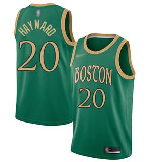 Men's Celtics #20 Gordon Hayward Green Basketball Swingman City Edition 2019-2020 Jersey