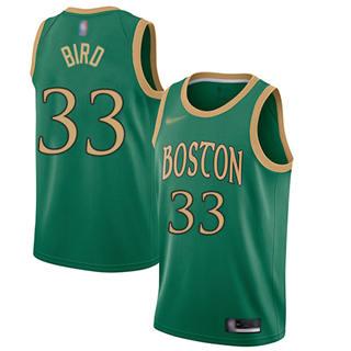 Men's Celtics #33 Larry Bird Green Basketball Swingman City Edition 2019-2020 Jersey
