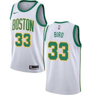 Men's Celtics #33 Larry Bird White Basketball Swingman City Edition 2018-2019 Jersey