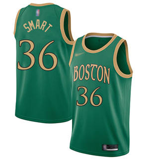 Men's Celtics #36 Marcus Smart Green Basketball Swingman City Edition 2019-2020 Jersey