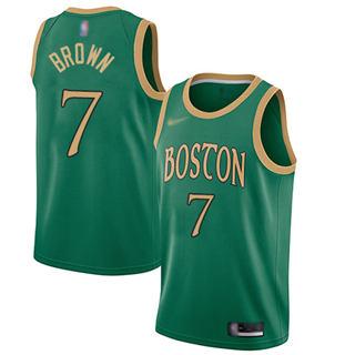 Men's Celtics #7 Jaylen Brown Green Basketball Swingman City Edition 2019-2020 Jersey