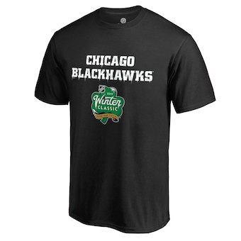 Men's Chicago Blackhawks Black 2019 Winter Classic Alternate Logo T-Shirt