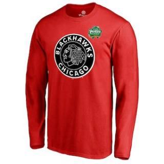 Men's Chicago Blackhawks Red 2019 Winter Classic Primary Logo Long Sleeve T-Shirt