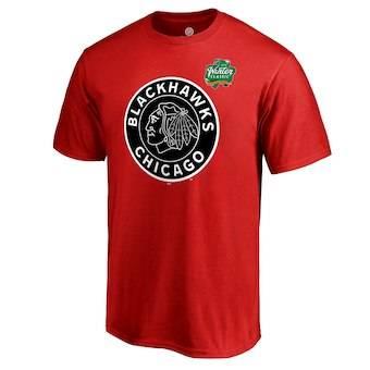 Men's Chicago Blackhawks Red 2019 Winter Classic Primary Logo T-Shirt