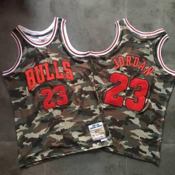 Men's Chicago Bulls #23 Michael Jordan Camo 1997-98 Hardwood Classics Jersey
