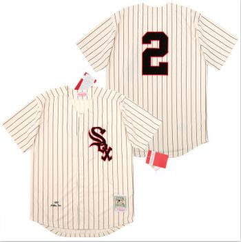 Men's Chicago White Sox #2 Nellie Fox Cream 1959 Cooperstown Collection Jersey
