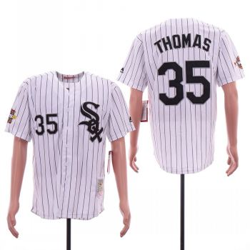 Men's Chicago White Sox #35 Frank Thomas White 2005 World Series Cooperstown Collection Jersey