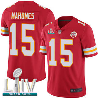 Men's Chiefs #15 Patrick Mahomes Red Team Color Super Bowl LIV Bound Stitched Football Vapor Untouchable Limited Jersey