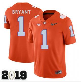 Men's Clemson Tigers #1 Martavis Bryant 2019 Football Jersey Orange