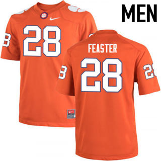 Men's Clemson Tigers #28 Tavien Feaster Orange College Football Jersey