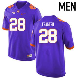 Men's Clemson Tigers #28 Tavien Feaster Purple College Football Jersey
