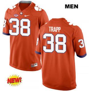 Men's Clemson Tigers #38 Amir Trapp Orange College Football Jersey