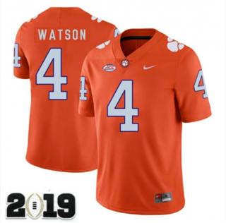 Men's Clemson Tigers #4 Deshaun Watson 2019 Football Jersey Orange