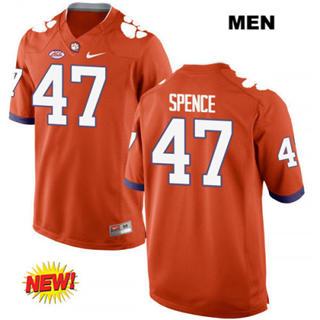 Men's Clemson Tigers #47 Alex Spence Orange College Football Jersey