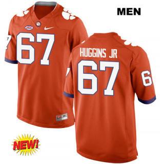 Men's Clemson Tigers #67 Albert Huggins 2019 Football Jersey Orange
