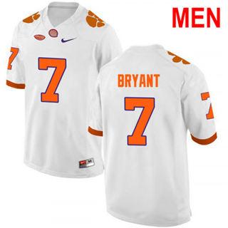 Men's Clemson Tigers #7 Austin Bryant White 2019 NCAA Football Jersey