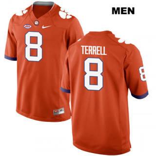 Men's Clemson Tigers #8 A.J. Terrell Orange College Football Jersey