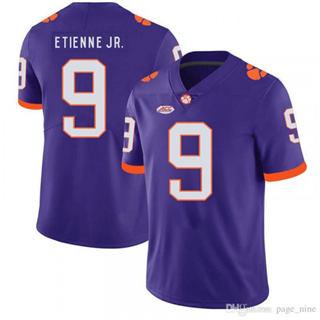 Men's Clemson Tigers #9 Travis Etienne Purple Stitched NCAA Football Jersey