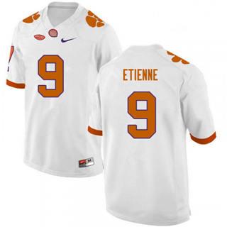 Men's Clemson Tigers #9 Travis Etienne White Stitched NCAA Football Jersey
