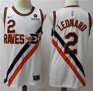 Men's Clippers #2 Kawhi Leonard White Basketball Swingman Hardwood Classics Jersey