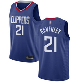 Men's Clippers #21 Patrick Beverley Blue Basketball Swingman Icon Edition Jersey