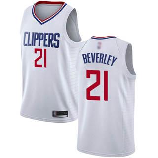 Men's Clippers #21 Patrick Beverley White Basketball Swingman Association Edition Jersey