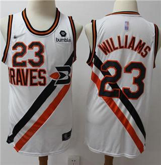 Men's Clippers #23 Louis Williams White Basketball Swingman Hardwood Classics Jersey