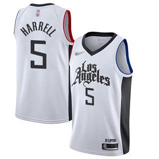 Men's Clippers #5 Montrezl Harrell White Basketball Swingman City Edition 2019-2020 Jersey
