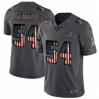Men's Cowboys #54 Jaylon Smith Carbon Black Stitched Football Limited Retro Flag Jersey