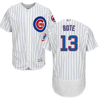 Men's Cubs #13 David Bote White Flexbase  Collection Stitched Baseball Jersey