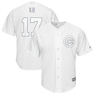 Men's Cubs #17 Kris Bryant White KB Players Weekend Cool Base Stitched Baseball Jersey