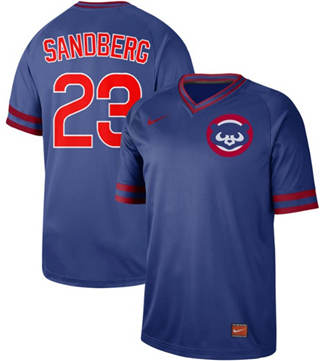 Men's Cubs #23 Ryne Sandberg Royal  Cooperstown Collection Stitched Baseball Jersey