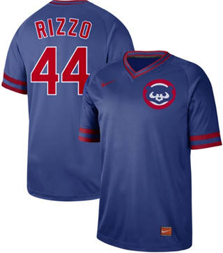 Men's Cubs #44 Anthony Rizzo Royal  Cooperstown Collection Stitched Baseball Jersey