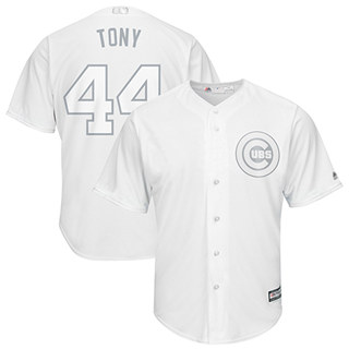 Men's Cubs #44 Anthony Rizzo White Tony Players Weekend Cool Base Stitched Baseball Jersey