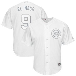 Men's Cubs #9 Javier Baez White El Mago Players Weekend Cool Base Stitched Baseball Jersey