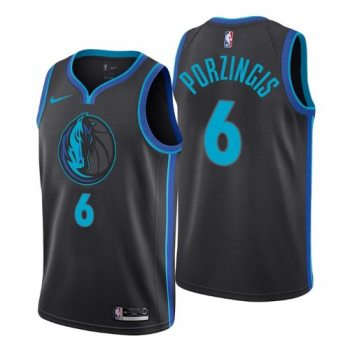 Men's Dallas Mavericks #6 Kristaps Porzingis Black Swingman City Edition Jersey