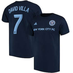 Men's David Villa New York City FC  Male Adult 2017 MLS Player Name and Number T-Shirt - Navy