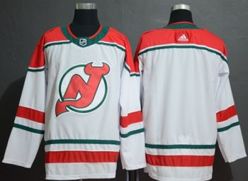 Men's New Jersey Devils Blank White Alternate  Stitched Hockey Jersey
