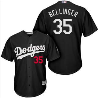 Men's Dodgers #35 Cody Bellinger Black Turn Back The Clock Stitched Baseball Jersey