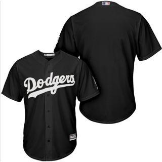 Men's Dodgers Blank Black Turn Back The Clock Stitched Baseball Jersey