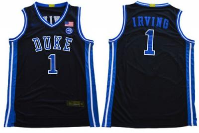 Men's Duke Blue Devils #1 Kyrie Irving Black Basketball Stitched College Jersey